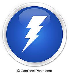 electricidade, azul, botão, ícone