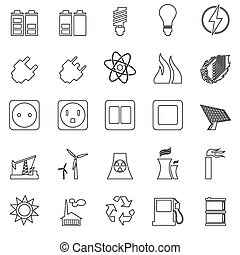 electricidade, energia, jogo, poder, ícone