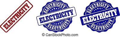 electricidade, selo, grunge, selos