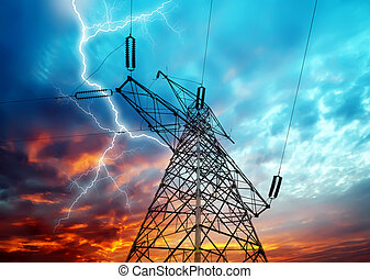 electricidade, torres