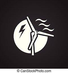 electricidade, vento, experiência preta, gerador