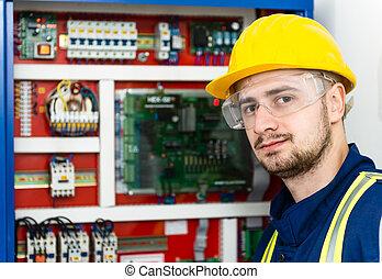 electricista, joven