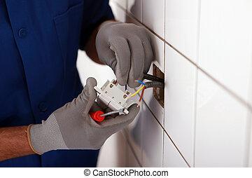 electricista, manos