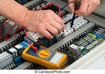 electricista, verificar, fusible