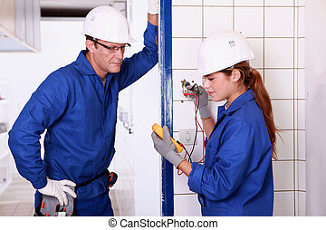 electricistas, medidas, toma