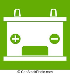 Electricity accumulator battery icon green