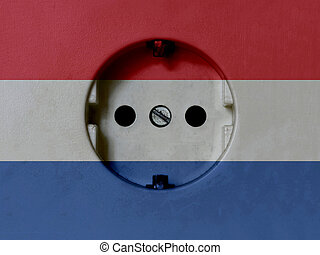 Electricity Concept: Type F Power Socket With Netherlands ...