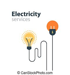 Electricity connection, electrical services and supply,...
