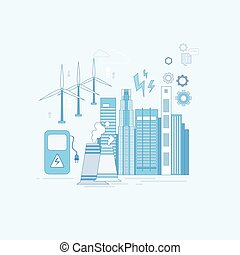Electricity Generation Station Industry Web Banner