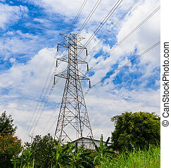 Electricity high voltage pylon