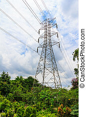 Electricity high voltage pylon