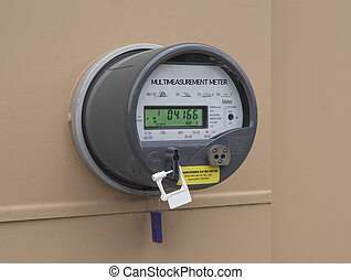 Electricity house meter - Modern smart grid residential...