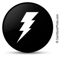 Electricity icon black round button