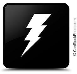 Electricity icon black square button