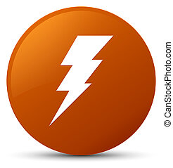 Electricity icon brown round button