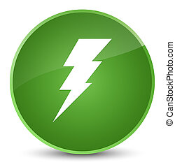 Electricity icon elegant soft green round button