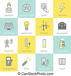 Electricity Icon Flat Line