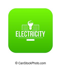 Electricity icon green
