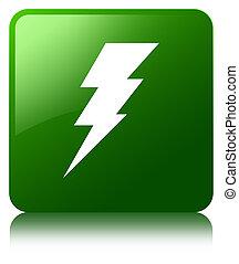 Electricity icon green square button