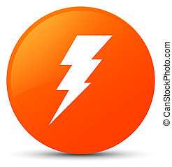 Electricity icon orange round button