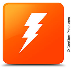 Electricity icon orange square button