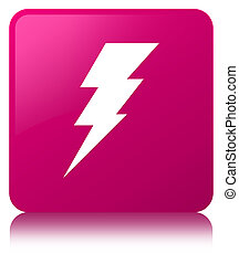 Electricity icon pink square button