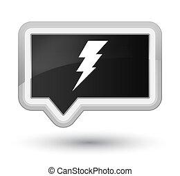 Electricity icon prime black banner button