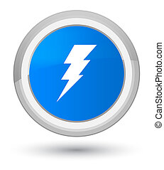 Electricity icon prime cyan blue round button