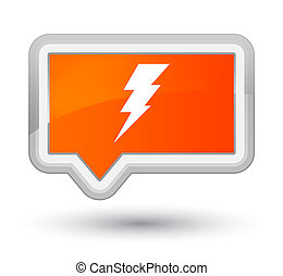 Electricity icon prime orange banner button
