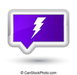 Electricity icon prime purple banner button