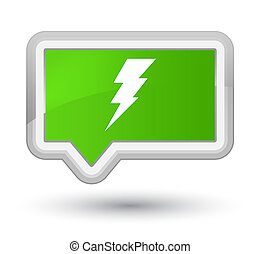 Electricity icon prime soft green banner button