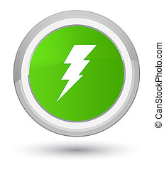Electricity icon prime soft green round button