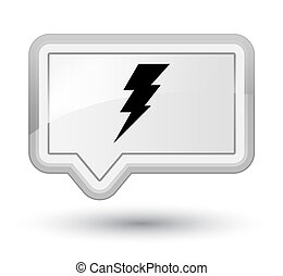 Electricity icon prime white banner button
