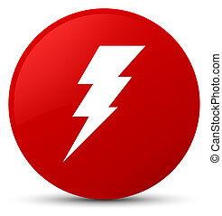 Electricity icon red round button