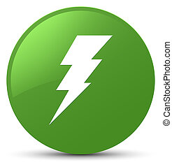 Electricity icon soft green round button