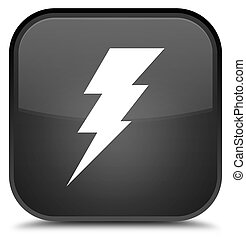 Electricity icon special black square button