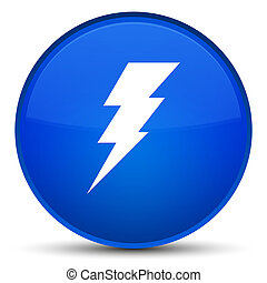 Electricity icon special blue round button