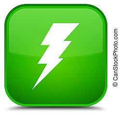 Electricity icon special green square button