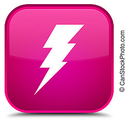 Electricity icon special pink square button