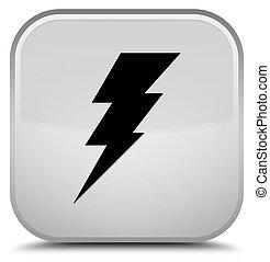 Electricity icon special white square button
