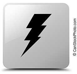 Electricity icon white square button