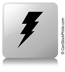 Electricity icon white square button