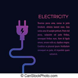 electricity illustration with electric plug