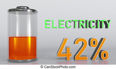 Electricity indicator goes up. Conceptual 3D rendering