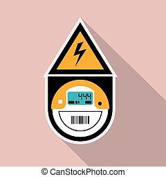 Electricity Meter. Digital.