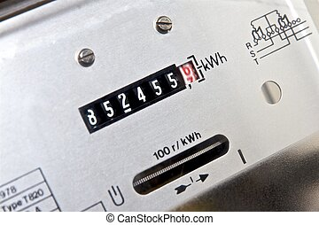 Electricity meter - Face of electromechanical induction ...