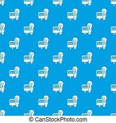 Electricity pattern seamless blue