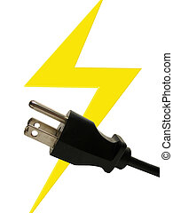 electricity - electrical plug and bolt