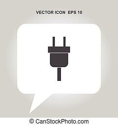 electricity plug vector icon