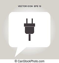 electricity plug vector icon